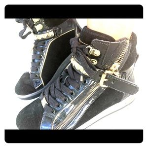 Michael Kors Black Studded High Tops